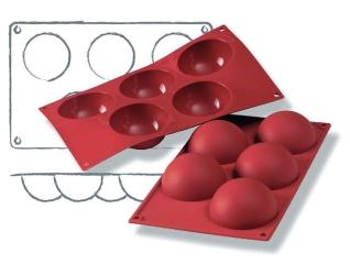 seitz m hlenladen shop silikon backform halbkugel 5er. Black Bedroom Furniture Sets. Home Design Ideas